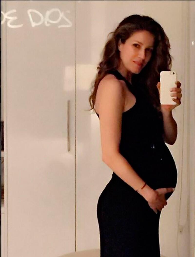 La modelo de 42 años ha lucido espectacular durante todo su embarazo.