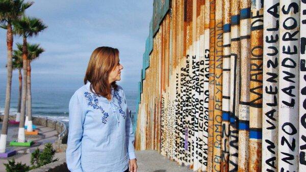 En el muro