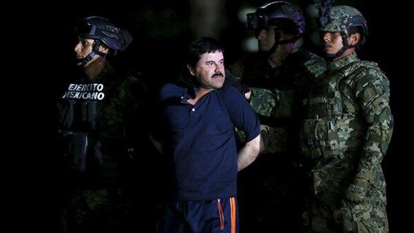 El capo fue presentado horas después de su captura.