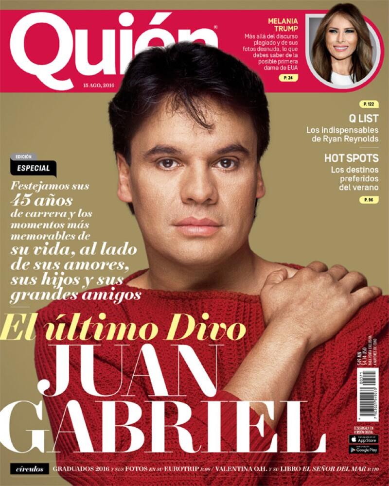 Juan Gabriel en la portada de Quién de la edición 371.