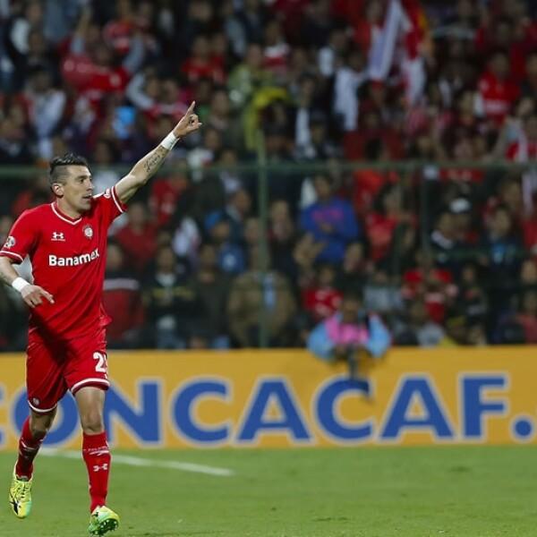 El delantero Edgar Benítez logró el empate para los Diablos Rojos