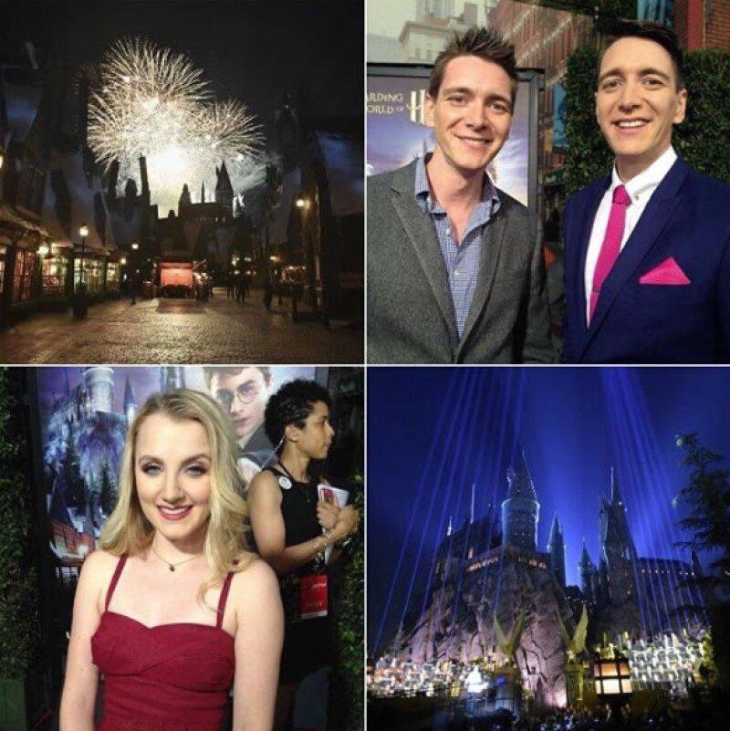 A la inauguración de Wizarding World Hollywood fueron varios actores de Harry Potter.