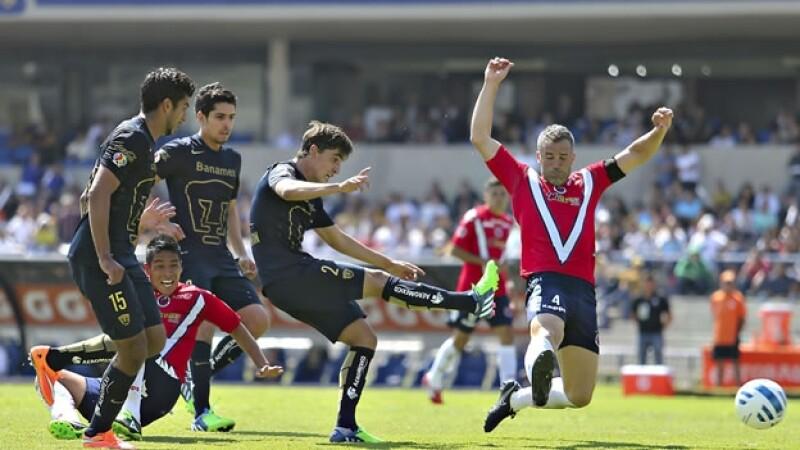 El conjunto universitario sigue sin saber lo que es ganar como local en el Torneo de Apertura 2014