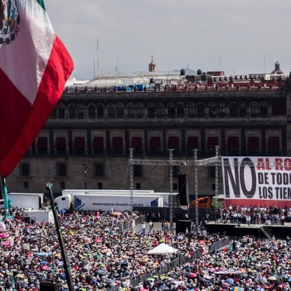 Zocalo de la Ciudad de Mexico en 2013