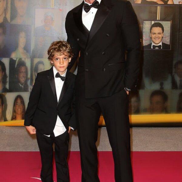 William Levy y su hijo.