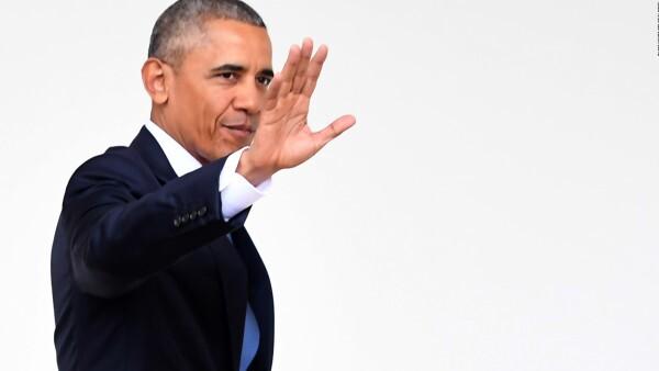 Obama y su último paseo en la Casa Blanca como presidente