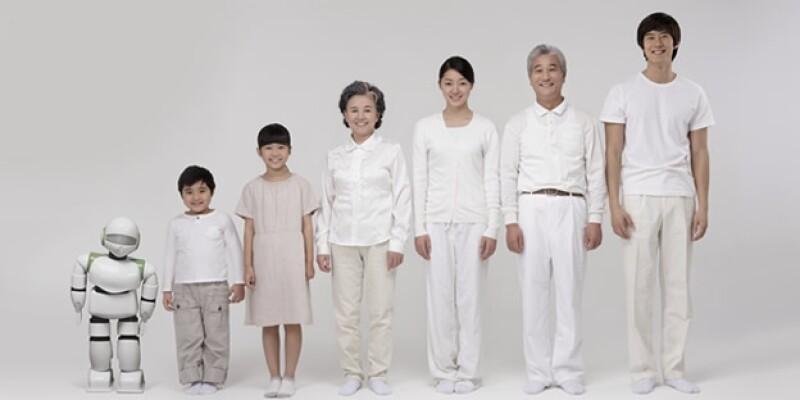 robot y familia