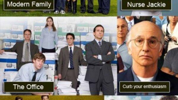 Mejor Serie de Comedia: Curb your enthusiasm; Glee; Modern family; Nurse Jackie; The office; 30 rock.