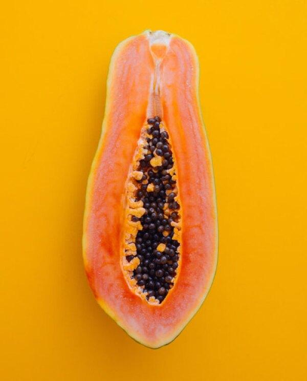 Mascarilla con papaya