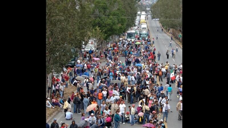 Autopista bloqueo maestros