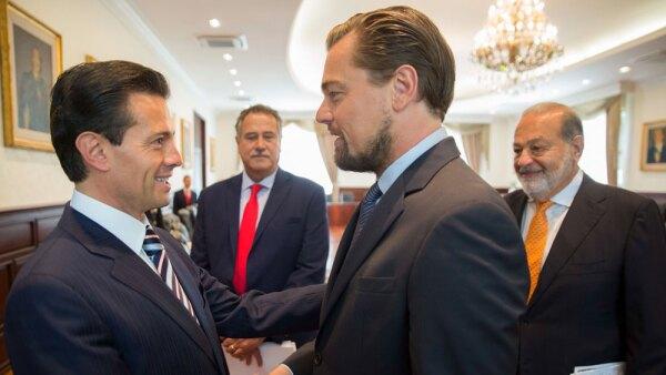 Leonardo DiCaprio Carlos Slim Enrique Peña Nieto