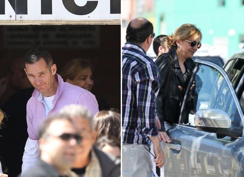 La infanta Cristina e Iñaki Urdangarin fueron vistos en Barcelona mientras iban a ver el partido de balonmano de uno de sus hijos.