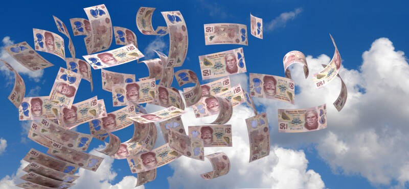 Flying Mexican Pesos