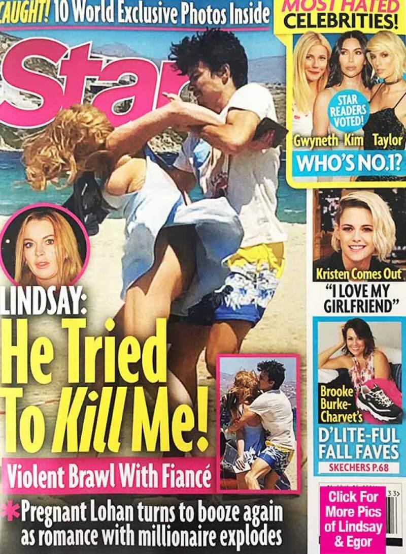 La publicación de unas fotografías en las que el novio de Lindsay aparece supuestamente golpeando a la actriz han enfurecido a su padre, Michael Lohan, quien no dudaría en confrontarle personalmente.