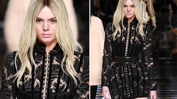 La menor del clan Kardashian tuvo un cambio de color de pelo junto con Gigi Hadid para el fashion show de Balmain en la Semana de la Moda en París.