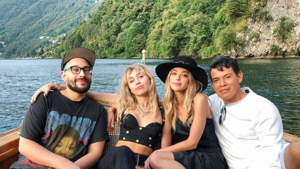 Miley Cyrus y Kaytlinn Carter viajaron juntas a Italia