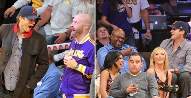 Sin duda el novio de Mila Kunis fue uno de los más divertidos de la tarde.