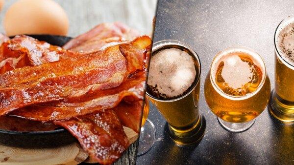 Tocino y alcohol