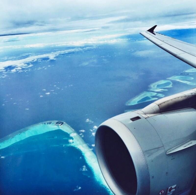 La vista desde la ventana de tu avión.