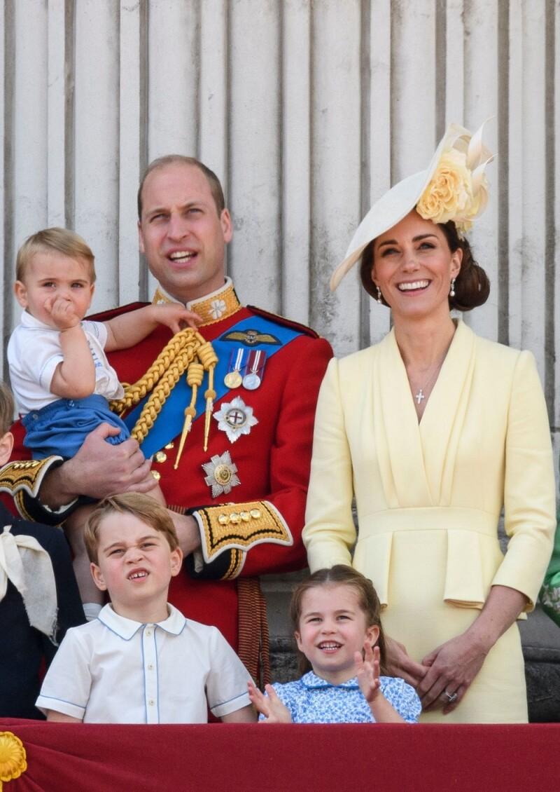 Príncipe William, Kate Middleton, príncipe Louise, príncipe George y la princesa Charlotte