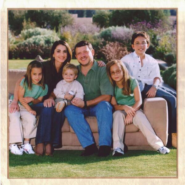 EL Rey Abdullah II de Jordania y su familia.