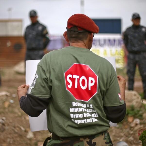 Veteranos en la protesta