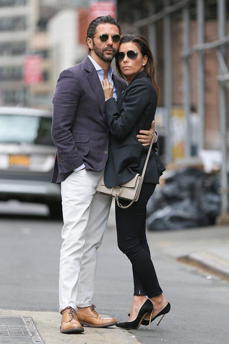 Además de amor, la pareja derrochó mucho estilo.