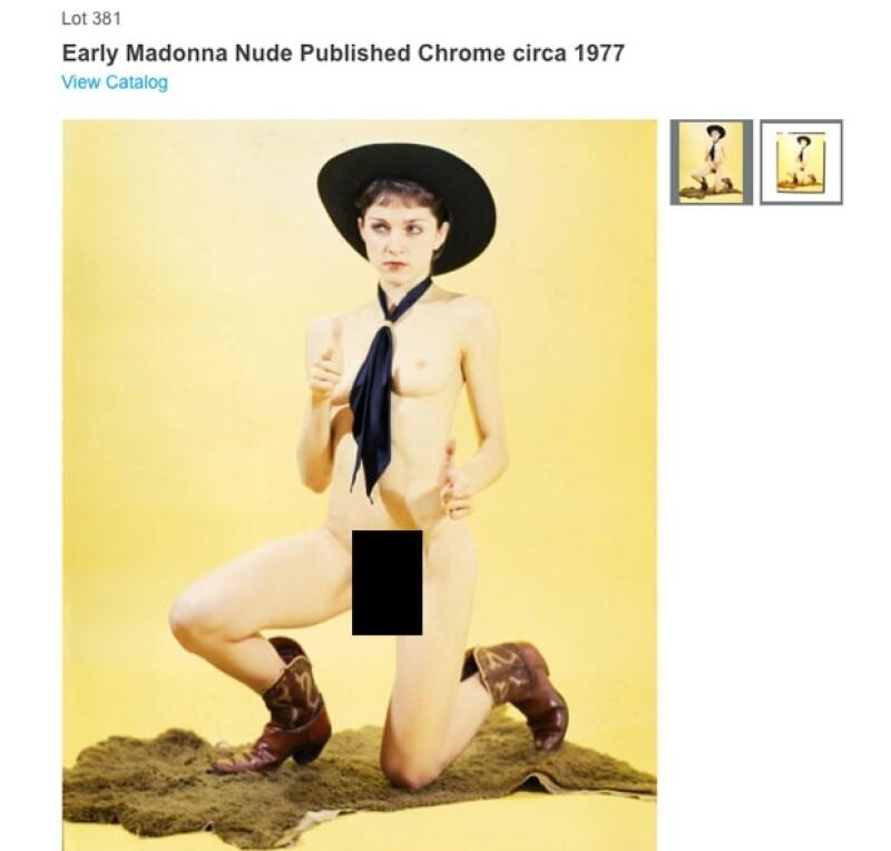 El próximo 9 de noviembre se venderán más de 20 fotos de la reina del pop en la década de los 70. El diario El País asegura que en esos días, la joven recibió 10 dólares por cada foto.