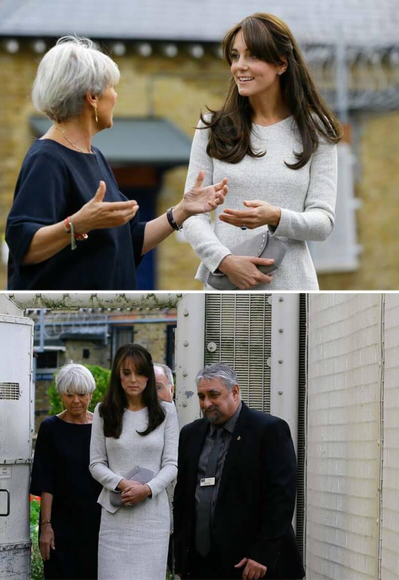 La duquesa visitó sorpresivamente la cárcel de mujeres del sureste de Londres.