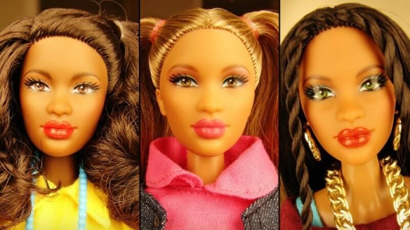 Kimani, Valencia y Dahlia son las muñecas multiculturales creados por el ex diseñador de Barbie Stacey McBride-Irby.