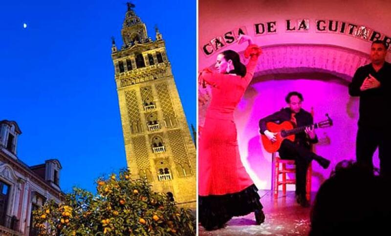 Estos fueron algunos de los lugares que la pareja visitó en Granada y Andalucía.