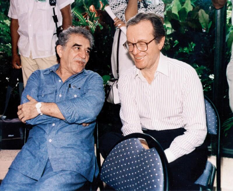Junto al escritor Gabriel García Márquez.