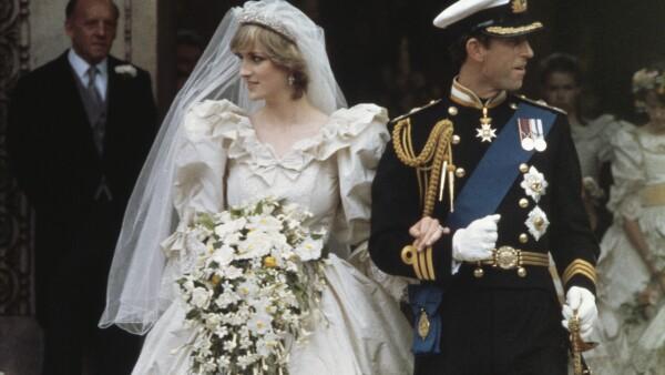 Carlos y Diana en su boda, 29 de julio de 1981