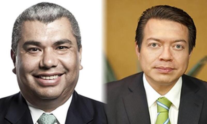 Javier López Zavala -izq- y Mario Delgado -der-. (Foto: Especial / Cortesía ADN Político)