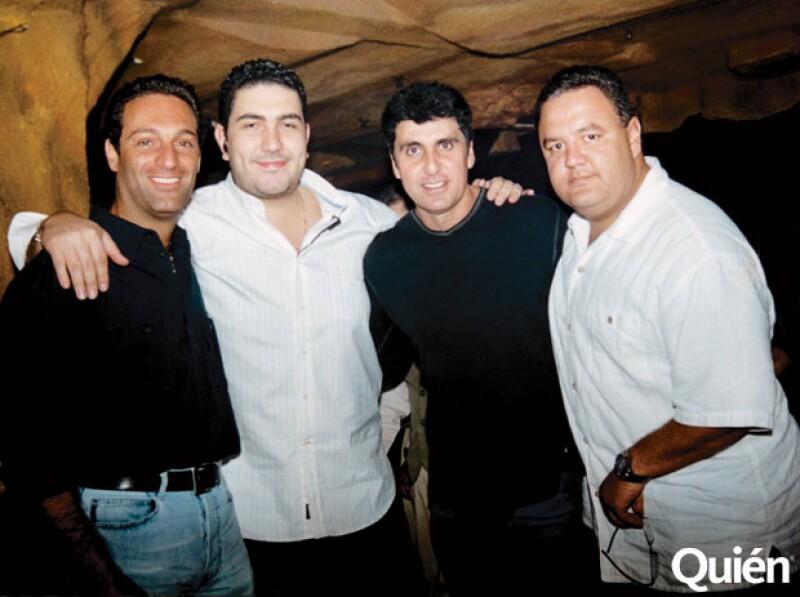 Carlos Slim Domit, Alan, Jimmy Morales y Arnoldo Ochoa.