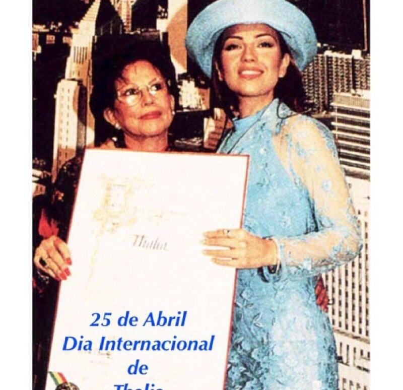 """En 1997, la ciudad de Los Ángeles, California, nombró el 25 de abril como el """"Día Internacional de Thalía"""", por lo que la actriz y cantante ha celebrado con sus fans a través de redes sociales."""