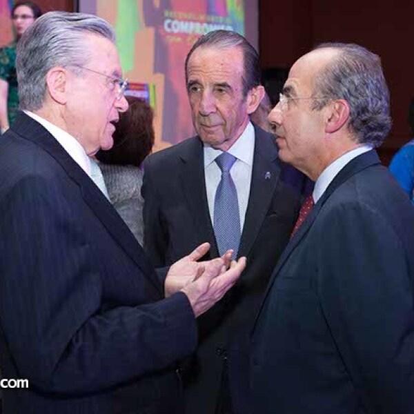 Eduardo Familiar,Manuel Arango y Felipe Calderón