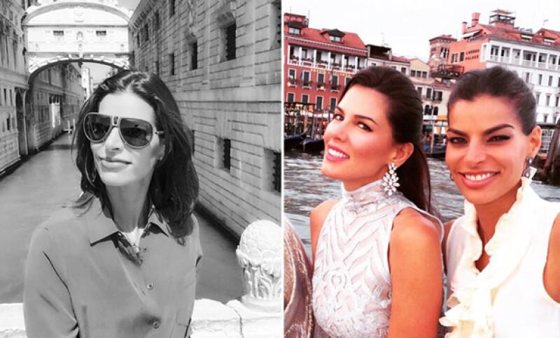 Todo indica que la guapa empresaria se enamoró de Venecia y sus canales.
