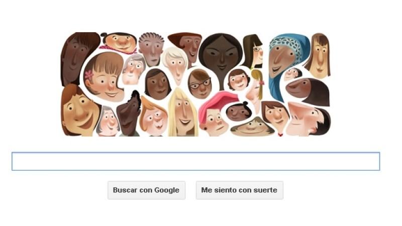 Google, doodle, día internacional de la mujer