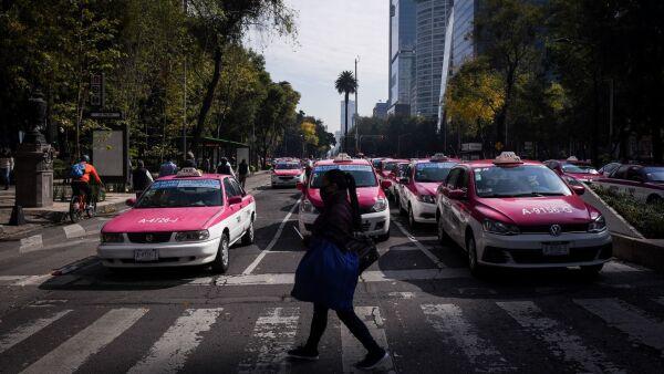 Taxistas se manifiestan
