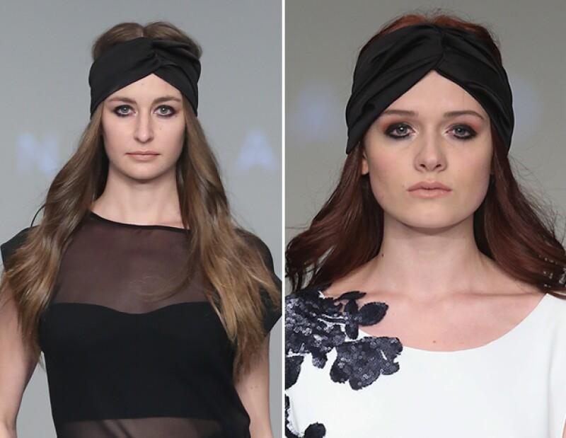 Presentó algunos looks con turbantes.