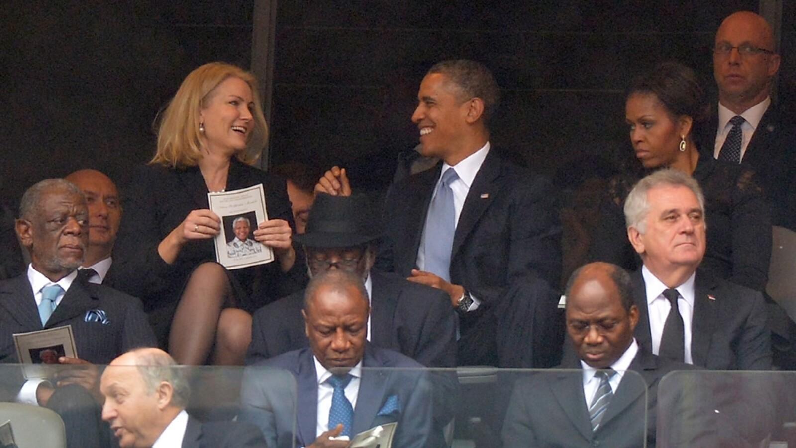 Barck Obama David Cameron Helle Thorning-Schmidt