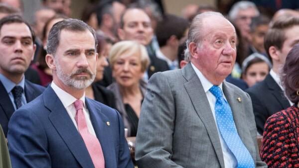 Rey Felipe VI y Juan Carlos de España