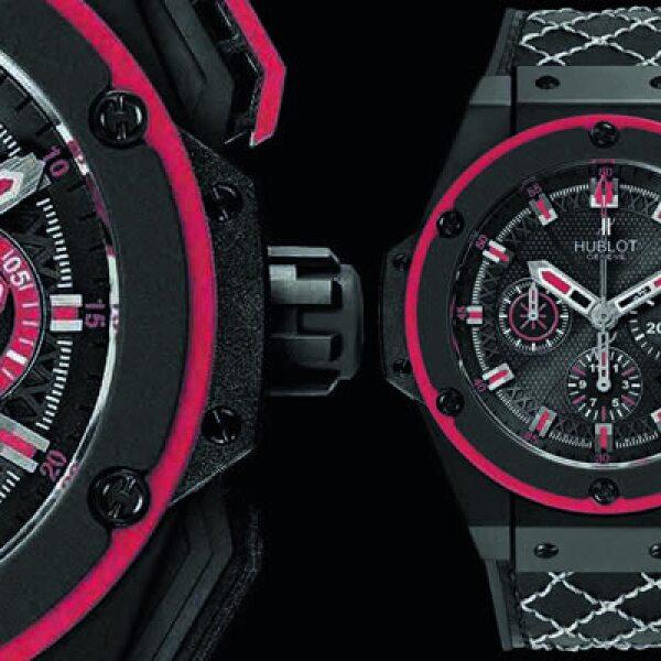 Este reloj fue presentado la semana pasada, dentro de la exhibición de nuevos relojes de Hublot. Tiene interior de titanio, diámetro de 40 mm y resistencia al agua por 15 metros.