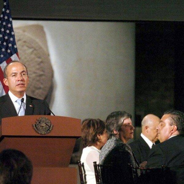 El presidente de México realizó un discurso ante los presentes al evento.