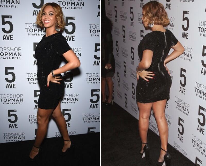 Beyoncé llamó especial atención con el vestido de lentejuelas que resaltó las curvas de su figura.