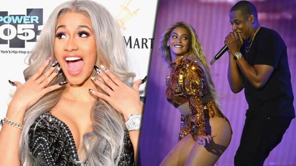 Cardi B, Jay Z y Beyoncé
