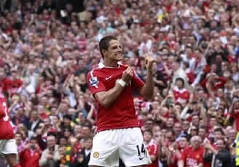 Javier Hernández ha marcado 20 goles con el Manchester United en la temporada, y podría coronarse en la Liga Premier el próximo sábado. (Foto: Notimex)