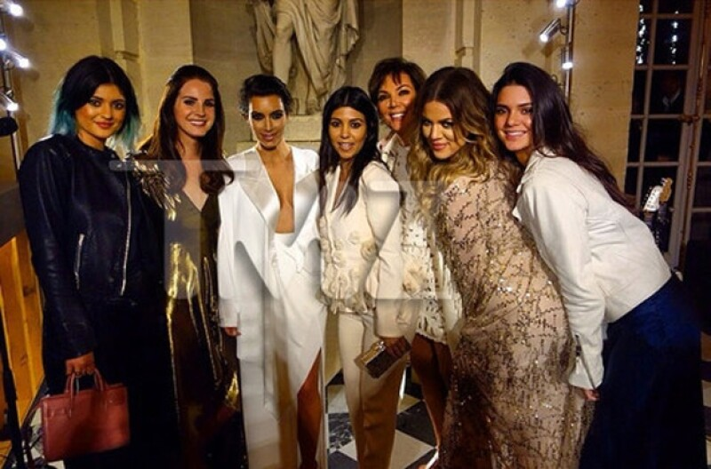 Lana del Rey cantó los temas favoritos de Kim la comida fue todo un deleite. Beyoncé y Jay Z brillaron por su ausencia.