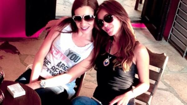 Junto a una amiga durante su visita a San Cristobal de las Casas.